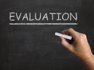 Evaluation Blackboard Means Judgement Interpretation And Opinion