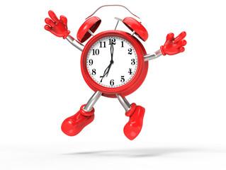 character alarm clock jump