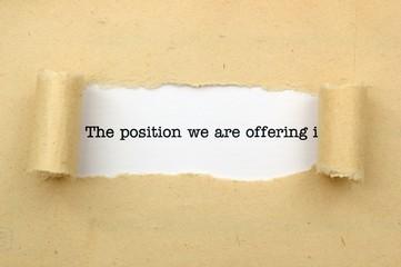 Position offer