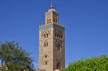 Minarett der Koutoubia-Moschee in Marrakech, Marokko