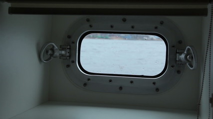 Ship window. St. Petersburg. Russia
