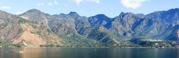 Panoramic view of lake Atitlan