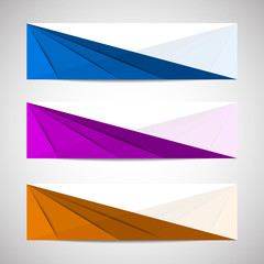 Set of vector banners, headers - template
