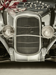Retro styled image of a usa classic car
