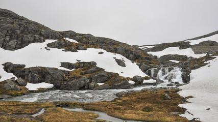 Trollstigen, Wanderweg, Gebirge, Bergbach, Sommer, Norwegen