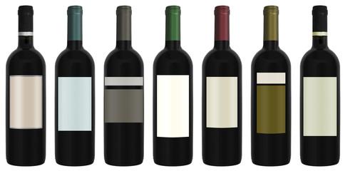 Seven bottles of wine