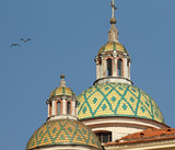dome of the St. Mary Magdalene Collegiate in Atrani,Amalfi poster
