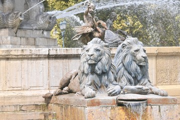 Particolare fontana Aix an Provence