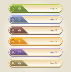 Modern infographics options banner set