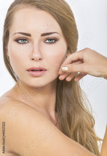 Beautiful Woman Girl Green Eyes