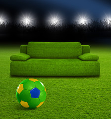 Couch im Fußballstadion