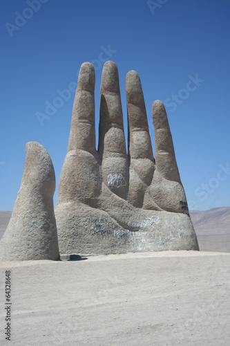 Leinwanddruck Bild Mano del Desierto