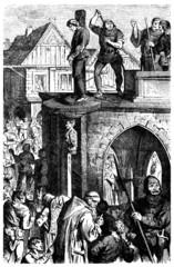 Medieval Scene : Pillory - Pranger - 15th-16th century