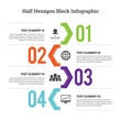 Half Hex Block Infographic