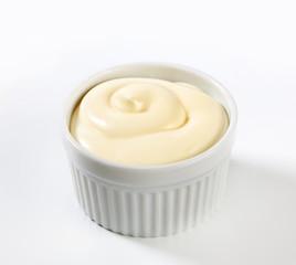 Thick white cream