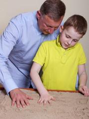 Ergotherapie mit Sand
