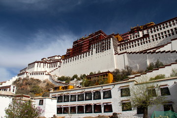 Side angle of the Potala Palace