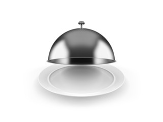 Cloche on plate
