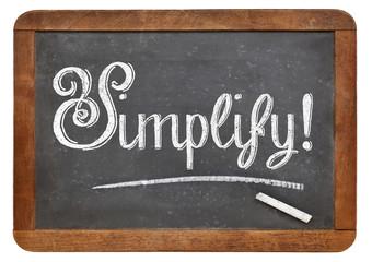 simplify word on blackboard