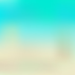 aqua and beige blurred background, suitable for flat style