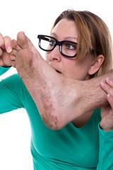 Verschmutzter Fuß