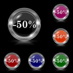 50 percent discount icon