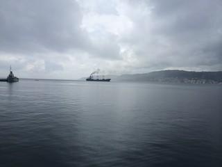 Yağmurlu Havada Çanakkale Boğazı