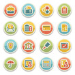 Banking color icons.