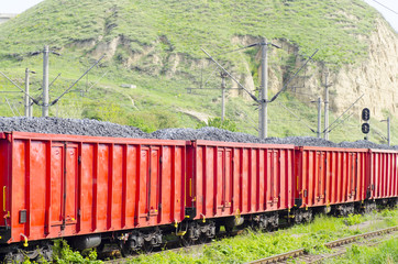 Train carries coal