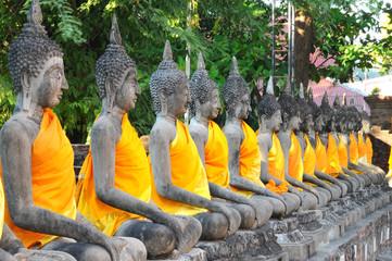 buddha statue , Wat Yai Chaimongkol , Ayutthaya , Thailand