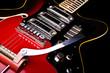Close up of music guitar