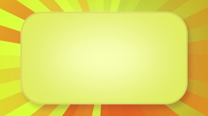 title plate yellow orange rays loopable background