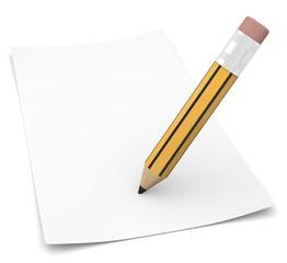 matita con foglio