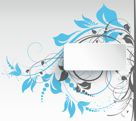Abstract floral background with 3D floral effect banner