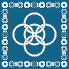 Celtic Five Fold knot ,symbolizes integration of four elements