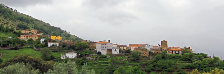 Panorámical de Segura de Toro, España
