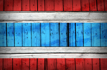 Thailand flag painted on wooden boards