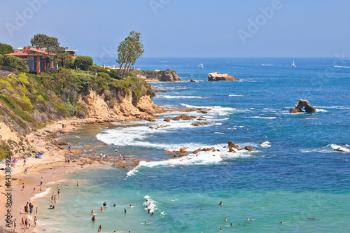 Fotobehang Golven Little Corona Del Mar Beach - Newport Beach, California