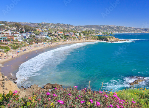 Crescent Bay of Laguna Beach, Orange County, California USA