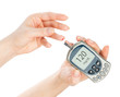 Diabetes measure glucose level blood test glucometer
