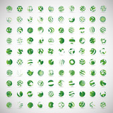 Fototapety Sphere Icons Set - Isolated On Gray Background