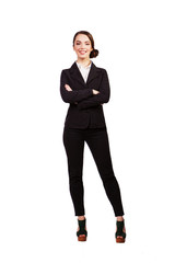 portrait of a mature professional business woman. Isolated on