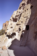 Cliff Dwellings in Bandelier National Monument, New Mexico