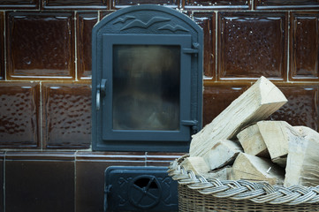 Old fashioned wood burning stove