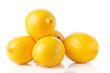 ripe lemons on a white background