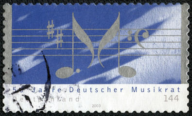 50th Anniv of Deutscher Musikrat , shows Musical Notations
