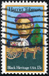 stamp shows Harriet Tubman and Cart Carrying Slaves
