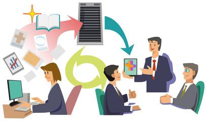 Office worker - data transmission
