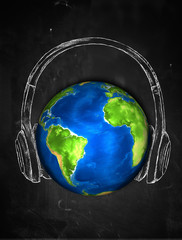 Earth Sketch Headphone music Background