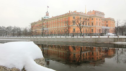 Mikhailovsky Castle in Winter, St. Petersburg, Russia